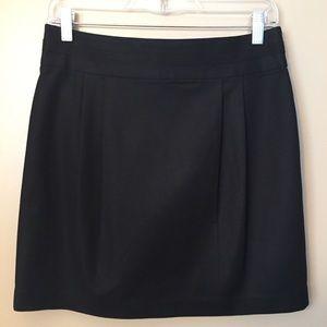 Banana Republic Black Mini Skirt 6 Grosgrain